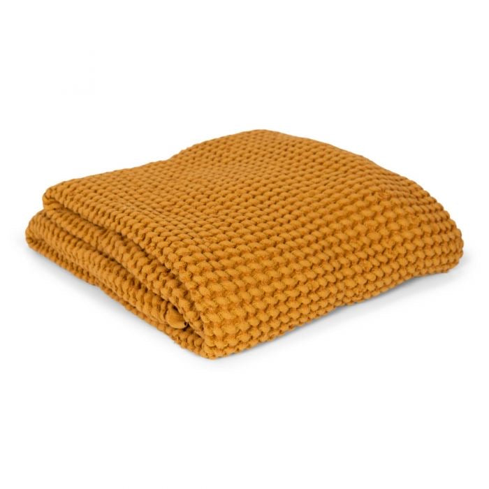 Couverture waffle - Mustard - LCB