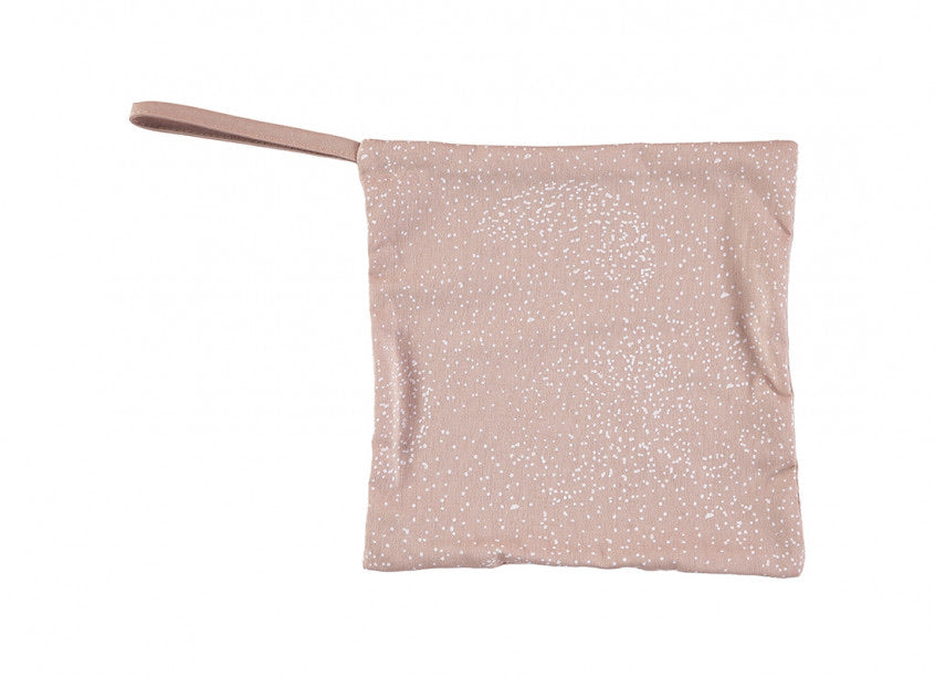 Doudou attache tétine - White Bubble/Misty Pink