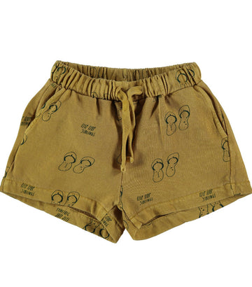 BONMOT ORGANIC - Fleece Siblings Short - Mustard