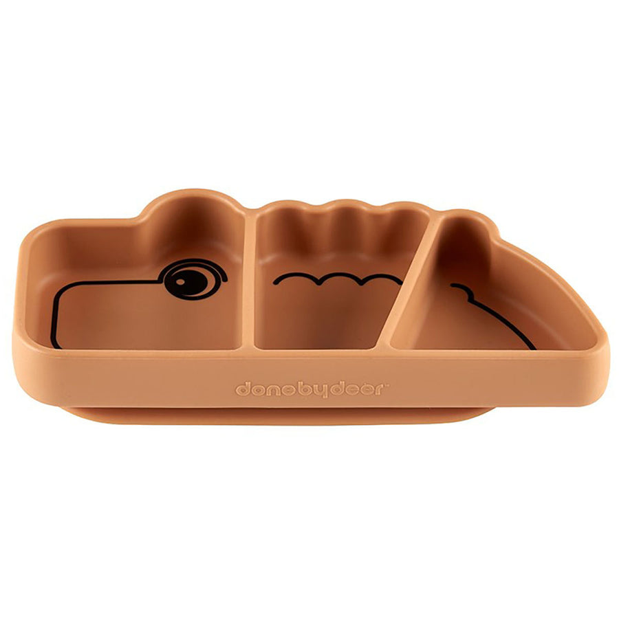 Assiette silicone Croco - Moutarde