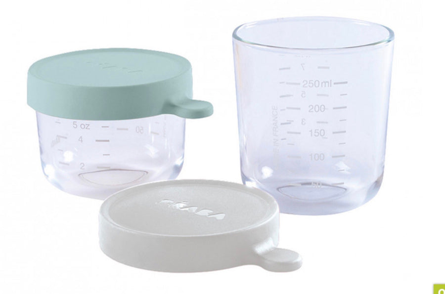 BEABA - Coffret portions verre - Airy Green - ATB