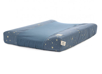Housse de matelas à langer Calma - Gold Stella/Night Blue