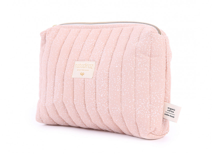 Trousse de toilette Travel - White bubble/Misty pink - LB