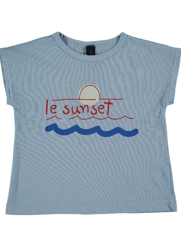 BONMOT ORGANIC - Le Sunset T-shirt -  Light Blue