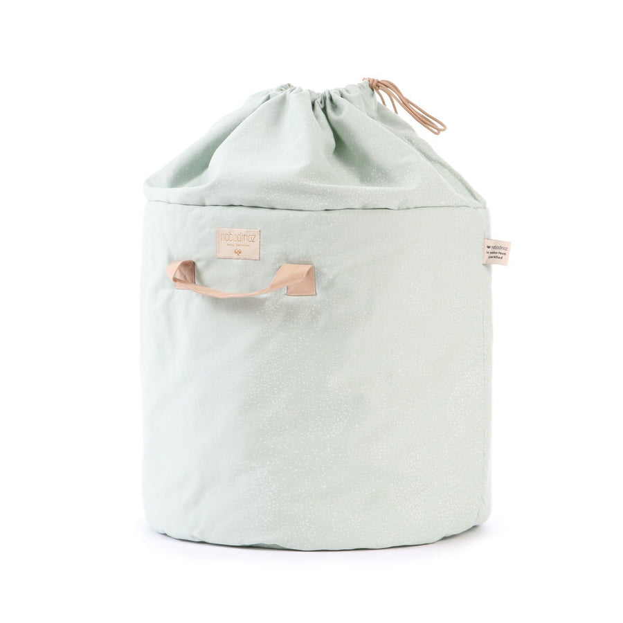 Sac à jouets Bamboo - White bubble/Aqua