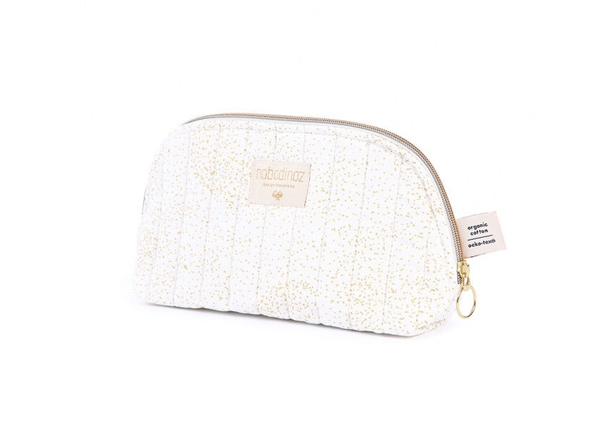Trousse de toilette Holiday - Gold bubble/white