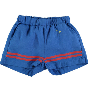 BONMOT ORGANIC - Bottom Stripes Short Lin - Fresh Blue