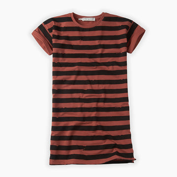Robe T-shirt Painted Stripes - Mango