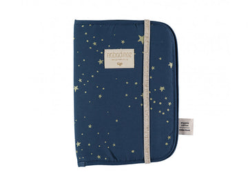 Protège carnet de santé Poema - Gold Stella/Night Blue