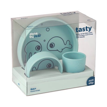 Set dîner silicone Sea Friends - Blue - ATB