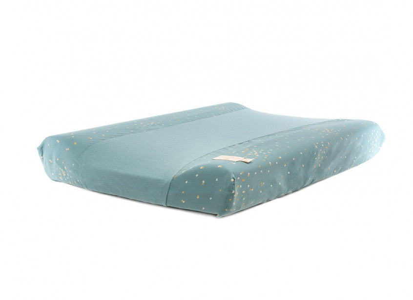 Housse de matelas à langer Calma - Gold Confetti/Magic Green - LB