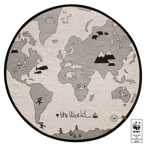 Tapis de sol world map