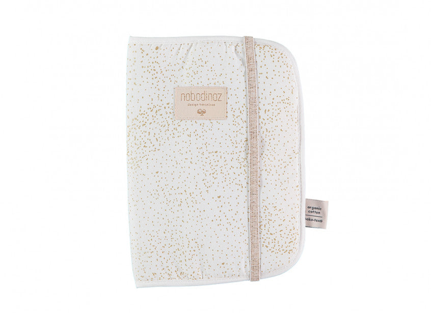protège carnet poema gold bubble white