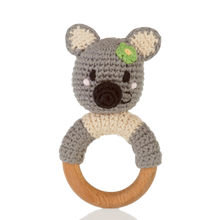 Load image into Gallery viewer, Wooden Ring Rattle – Koala