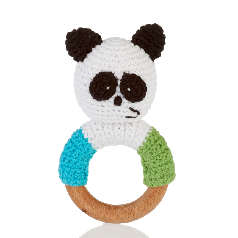 Wooden Ring Rattle – Panda