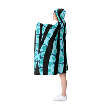 Load image into Gallery viewer, Teal Wild Print Hooded Blanket