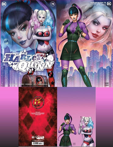 Harley Quinn 75 3 Cover Set Szerdy & Kincaid - Raw