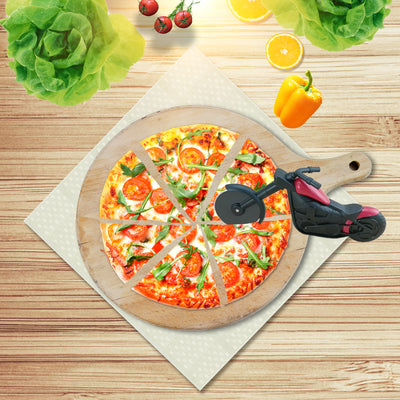 Motorcycle Pizza Cutter Wheel Roller Tool Knives Stainless Steel - 9about
