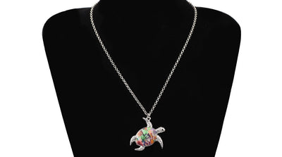 Enamel Tortoise Turtle Necklaces Pendant Chain Collar Ocean Collection