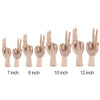 Wooden Hand Mannequin Model Movable 7/8/10/12 Inches - 9about