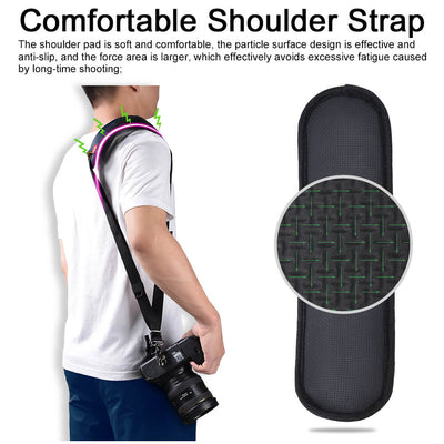 Camera Shoulder Neck Strap w/Quick Release and Safety Tether Universal Camera Belt - 9about