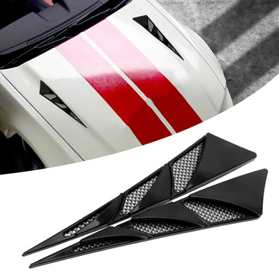 Car Exterior Decoration Stickers Side Air Intake Flow Vent Cover - 9about