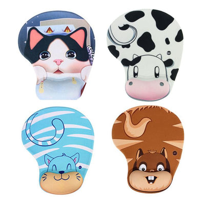 Cute Funny Mouse Pad Memory Foam Comfort Wrist Rest Support Gamer