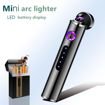 Mini Arc screem display fingerprint Lighters Windproof USB Recharge - 9about