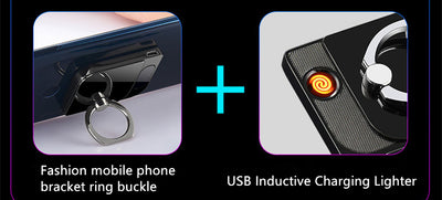 Fingerprint USB Recharge Smoking Electric Lighter - 9about