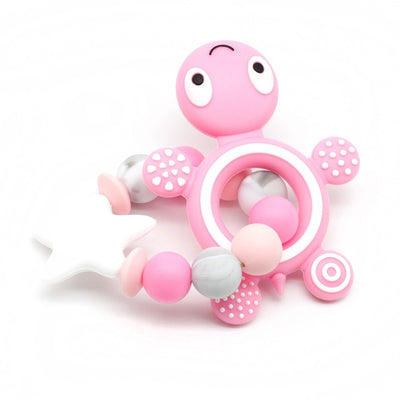Silicone Baby Teether Toy Bracelet Turtle - 9about