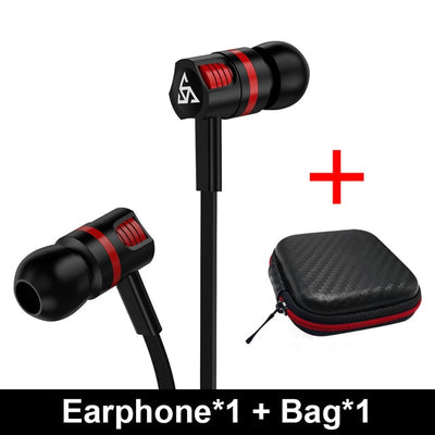 Musttrue Professional Earphone Super Bass Headset with Microphone - 9about