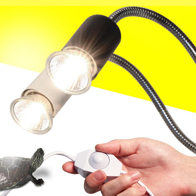 Reptile Lamp Set UVA+UVB 3.0 Lamp Clip-on Bulb Lamp Holder Thermometer Hygrometer