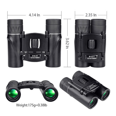 8x21 Telescope Compact Zoom Binoculars Folding Long Range 1000m - 9about