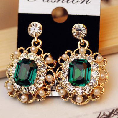 Korean Earrings Ladies Jewelry Pearls Vintage Fashion - 9about