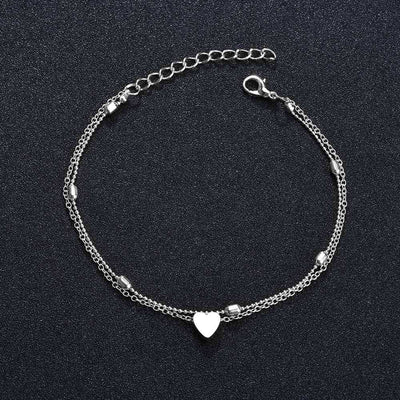 New Heart Female Gold Foot Ankle Bracelets