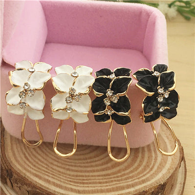 Cute Crystal Camellia Flower Drip Stud Earring - 9about