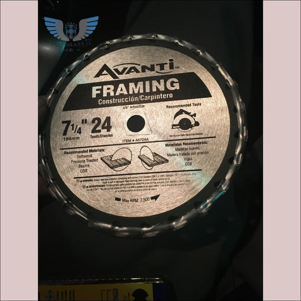 Avanti Framing 7 1/4 24 tooth Saw Blade - toolaza