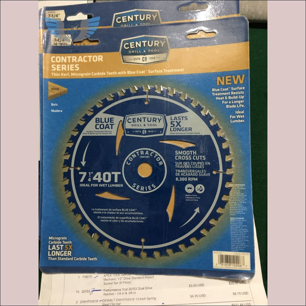 Century Drill & Tool's 7-1/4 in 40T Circular Saw Blade - toolaza