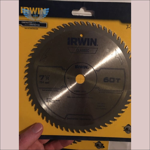 Irwin Classic 7 1/4 60 tooth Saw Blade - toolaza