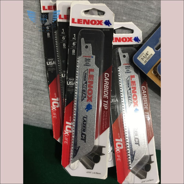 Lenox 6in 8TPI Lazer Cut Reciprocating Saw Blade - toolaza