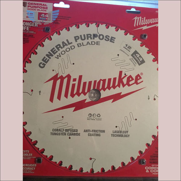 Milwaukee 12inch 44 Tooth General Purpose Blade - toolaza