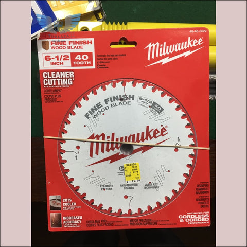 Milwaukee 6-1/2 Inch 40 Tooth Fine Finish Wood Blade - toolaza