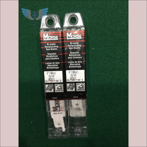 Morse Reciprocating Saw Blades 4 x 10/14TPI- 5-Pack - toolaza