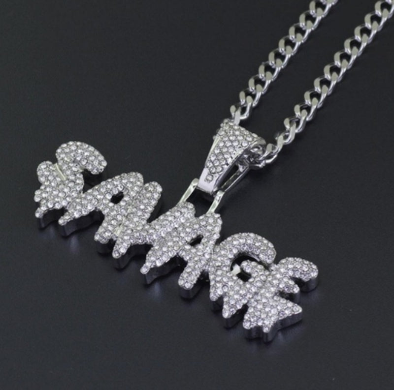 Iced Out Gold SAVAGE Pendant Chain