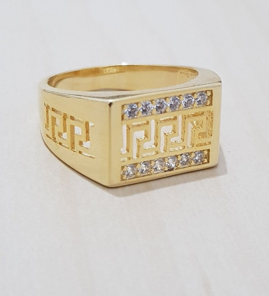 4f90f17593c9a8 14k Gold Plated Iced Out Hip Hop Style Square Ring CZ Crystal Bling Pi – Bling  Bling Jewelery