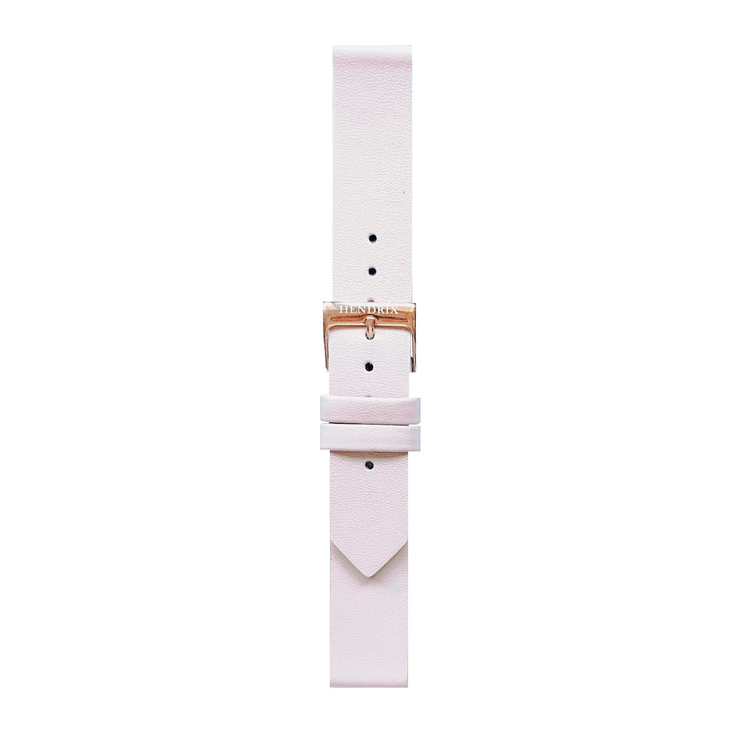 Pink Leather Watch Strap