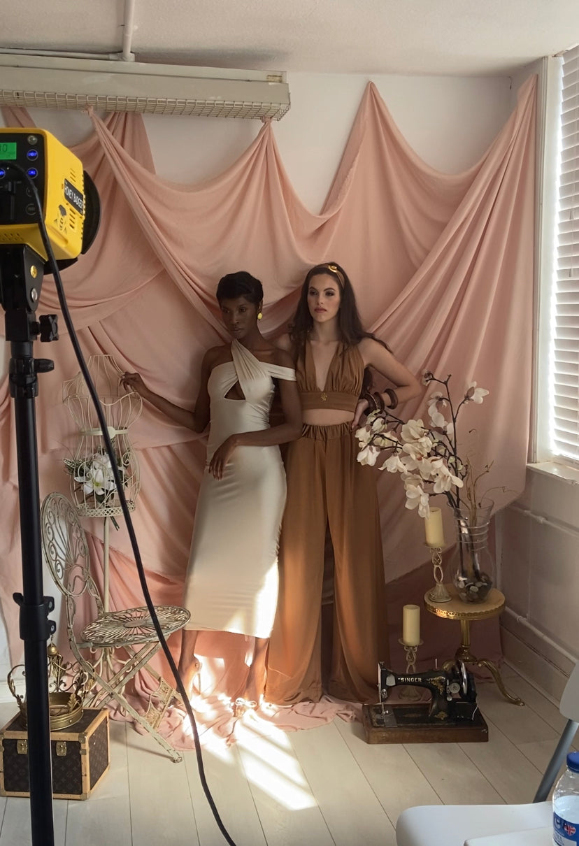 Behind the scenes on the Dolls of Decadence SS21 campaign