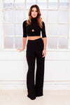 SENORITA see through sheer beach wide leg trousers