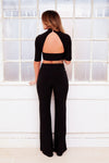 SAPPHIRE black wide leg trousers co-ord set