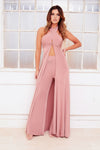 KIARA wide leg high waist trousers and robe set